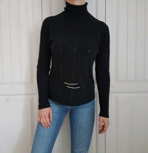 Pullover Pulli Schwarz Rollkragen Rollkragenpulli Rollkragenpulli cardigan sweater