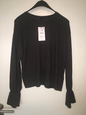Pullover Pulli Shirt neu Gr 40 grau