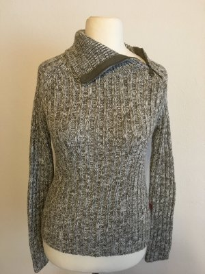 Pullover Pulli Strickpullover Strick warm grau grün Gr. 36/38
