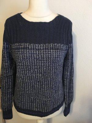 Pullover Pulli Strickpullover warm Winter Hilfiger dunkelblau Gr. S