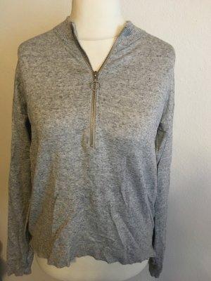 Pullover Pulli Sweater grau weich locker Gr. S
