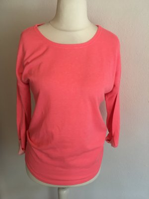 Pullover Pulli Sweater pink neon oversized locker Gr. XS