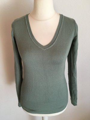 Pullover Pulli V-Neck Basic hellgrün Gr. S TOP