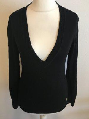 Pullover Pulli V-Neck schwarz Basic Gr. 38