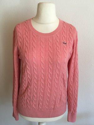 Pullover Pulli Zopfmuster rosa warm Gr. 38 Lacoste NEU