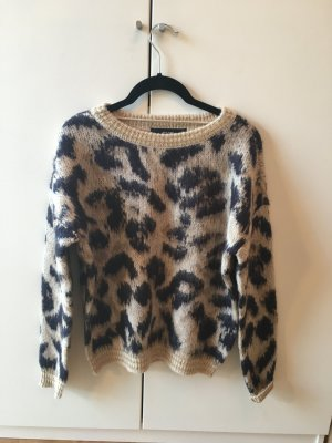 Pullover Pullover mit Leopardenmuster