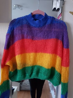 LAZY OAF Coarse Knitted Sweater multicolored