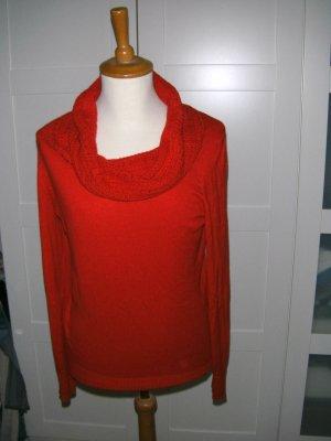 Pullover, Rollkragenpullover, Wasserfallkragen, rot, s.Oliver, Gr. 40