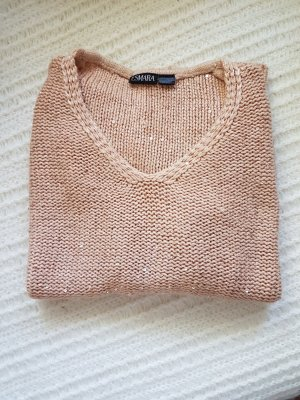 Pullover, rosa mit Glitzer