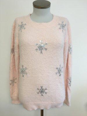 Pullover rosa Schneeflocken