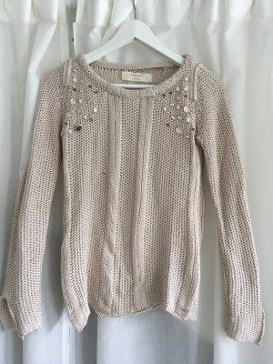Pullover Rosa Steinchen Detail Zara