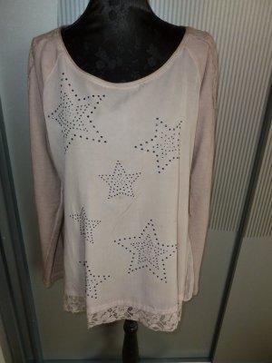 Pullover rosa Steinchen Sterne Tredy