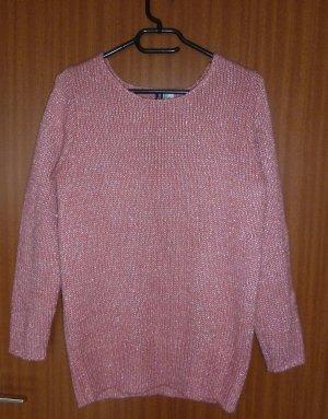 Pullover rosa Strick S 36 H&M Glitzergarn
