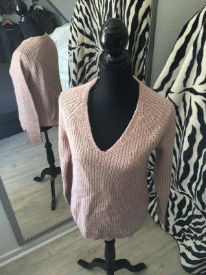 Pullover Rosa V-Auschnitt
