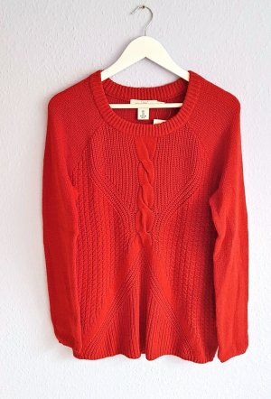 Pullover Rot Strickmuster H&M Gr. S