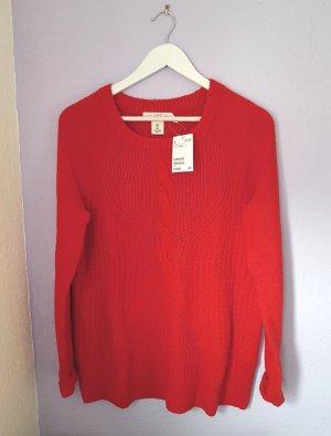 Pullover Rot Strickmuster H&M Gr. S