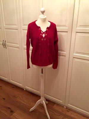 Pullover rot zum Schnüren Blogger