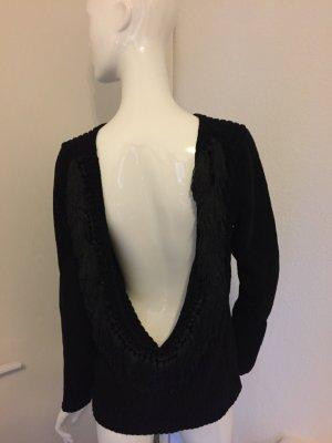Pullover Rückendécoltée Quasten