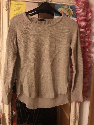 Pullover rückenfrei durchsichtig am Rücken beige