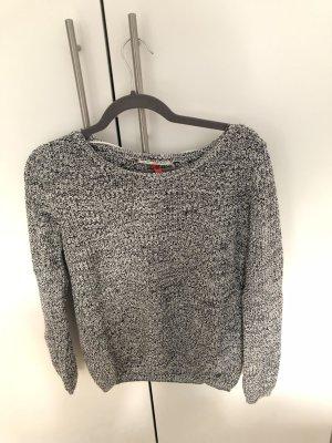 Pullover, S. Oliver, warm/kuschelig, grau-schwarz-weiß