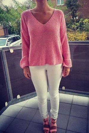 Pullover S rosa Schleife Schleifen blogger hipster boho