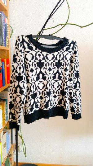 Pullover schwar weiß Muster