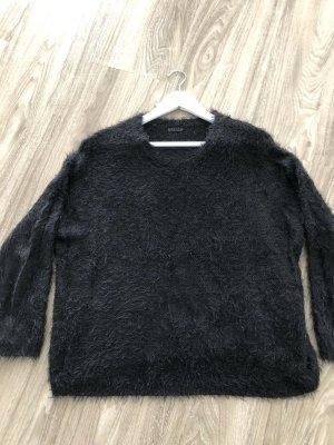 Asos Fleece trui zwart