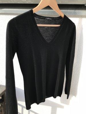 Pullover schwarz aus Schurwolle