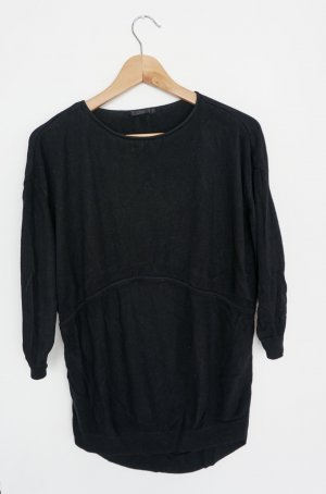 COS Short Sleeve Sweater black viscose
