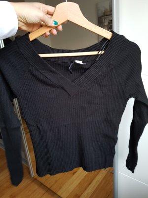 pullover schwarz elastisch gr. l