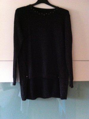 Pullover, schwarz, Glitzer