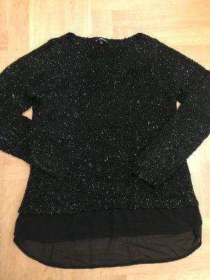 Pullover, schwarz, Gr. L/40, More&More, Pailetten, wie neu