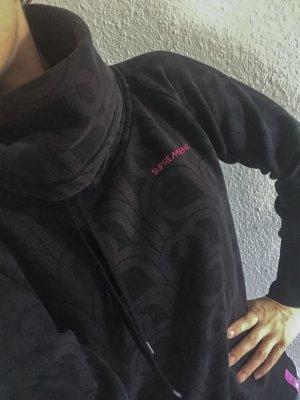 Pullover schwarz grau mit Muster Supremebeing