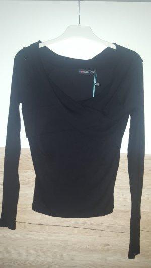 Pullover schwarz leicht Schulterfrei