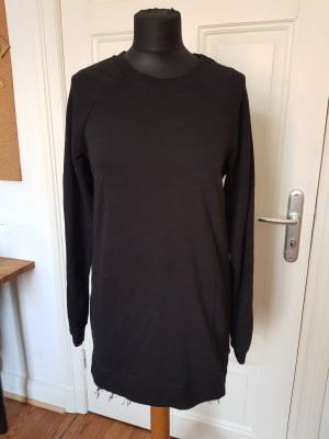 Pullover Schwarz Long Longpullover Pulloverkleid Kleid Grundge Rock