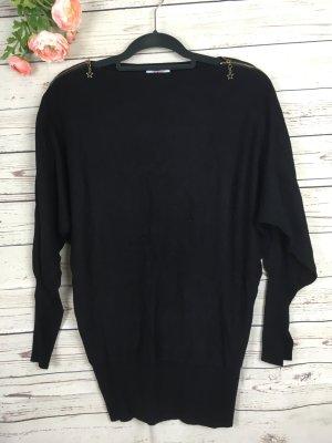 Pullover Schwarz mit gold Nieten Lang
