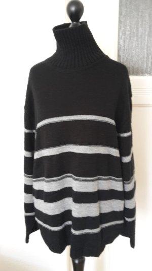 Pullover - schwarz mit Streifen