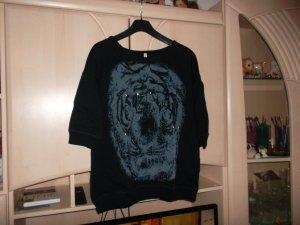 pullover,schwarz,sheego,gr. 40/42,druck vorne