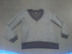 H&M V-Neck Sweater black-silver-colored