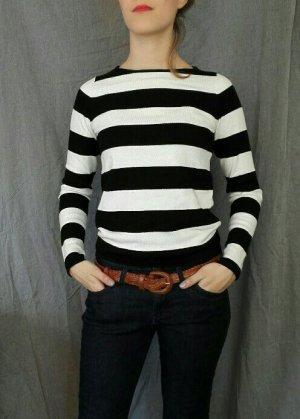 Pullover schwarz weiß gestreift
