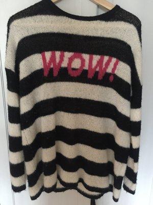 Pullover schwarz-weiß gestreift wow frogbox
