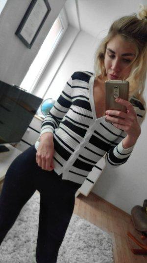 Pullover schwarz-weiss gr XS