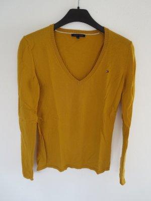 Pullover senfgelb Wolle/Baumwolle
