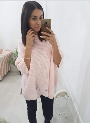 Oversized Sweater light pink-pink