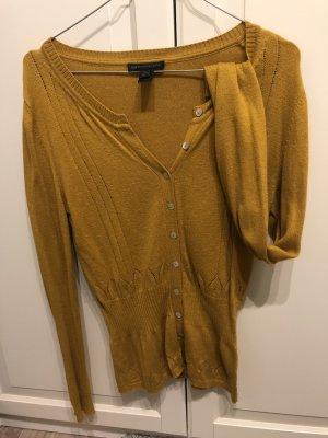 Pullover Shirt gelb (Senf) mit strickmuster MANGO