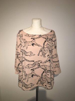 Pullover Shirt Gr.L Nude schwarz