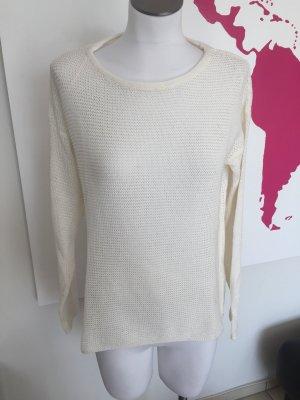 Pullover Shirt Hugo Boss weiß Gr. L NEU Häkelpullover Strickpullover