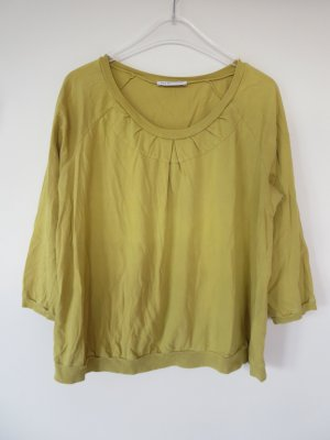 See by Chloé Oversized Shirt lime yellow cotton