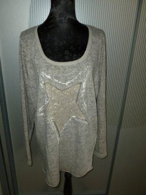 Pullover Shirt Stern grau Tredy