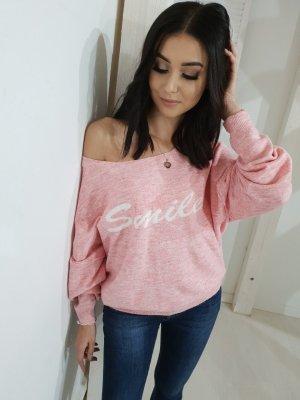 Maglione oversize rosa